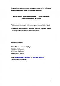 Preparation of respirable nanoparticle agglomerates ... - UCL Discovery