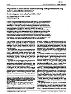 Preparation of saturated and unsaturated fatty acid ... - Semantic Scholar