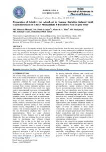 Preparation of Selective Ion Adsorbent by Gamma Radiation Induced ...
