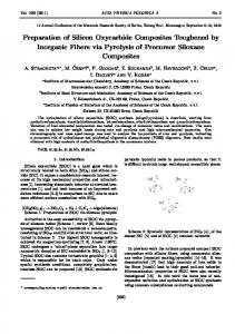 Preparation of Silicon Oxycarbide Composites Toughened by ...