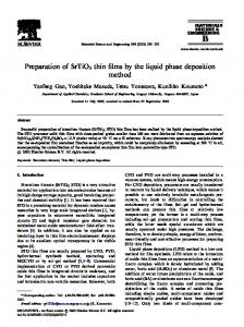 Preparation of SrTiO3 thin films by the liquid phase ...