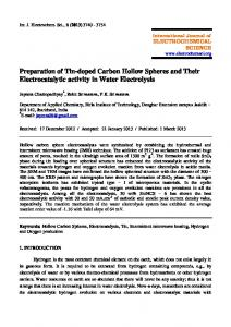 Preparation of Tin-doped Carbon Hollow Spheres and Their