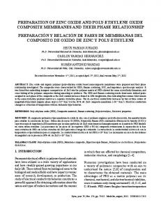 preparation of zinc oxide and poly-ethylene oxide ... - SciELO Colombia