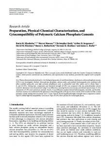 Preparation, Physical-Chemical Characterization, and