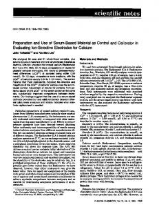 Preparationand Use of Serum-BasedMaterialas ... - Clinical Chemistry