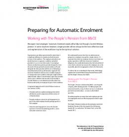 Preparing for Automatic Enrolment - Scottish Widows