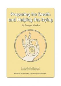 Preparing for Death & Helping the Dying
