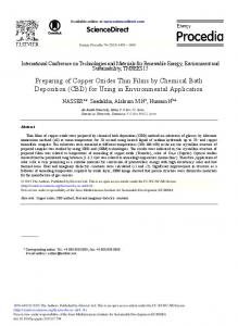 Preparing of Copper Oxides Thin Films by Chemical ... - ScienceDirect