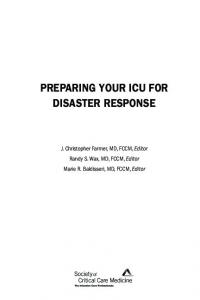 preparing your icu for disaster response
