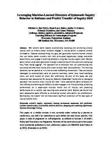 Preprint Draft PDF - WPI - Worcester Polytechnic Institute