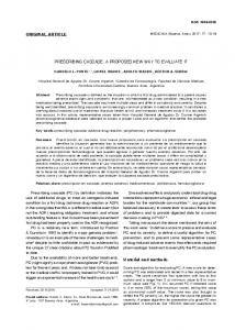 PRESCRIBING CASCADE. A PROPOSED NEW ... - SciELO Argentina
