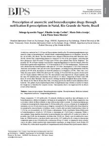 Prescription of anorectic and benzodiazepine drugs ... - Revistas USP