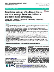 Prescription patterns of traditional Chinese medicine amongst ...