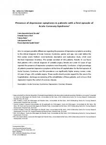 Presence of depressive symptoms in patients with