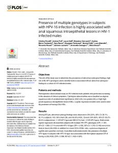 Presence of multiple genotypes in subjects with