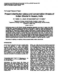 Present distribution status and conservation ... - Academic Journals