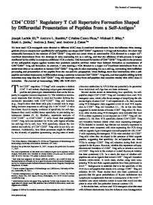 Presentation of Peptides from a Self-Antigen Formation Shaped by ...