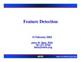 Presentation on Feature Detection - FCC