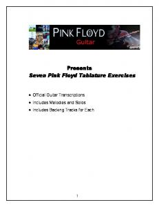 Presents Seven Pink Floyd Tablature Exercises - Pink Floyd Guitar