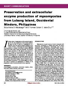 Preservation and extracellular enzyme production of myxomycetes ...