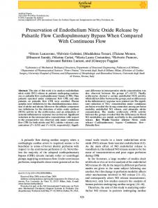 Preservation of Endothelium Nitric Oxide ... - Wiley Online Library