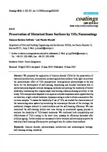 Preservation of Historical Stone Surfaces by TiO2