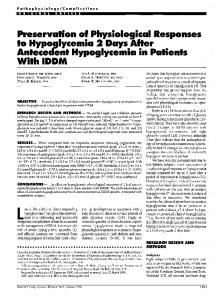 Preservation of Physiological Responses to ... - Diabetes Care