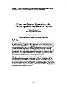 Preservice Teacher Perceptions of a Technology ... - CiteSeerX