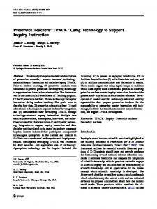 Preservice Teachers' TPACK: Using Technology to ... - Springer Link