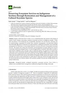 Preserving Ecosystem Services on Indigenous Territory ... - MDPI