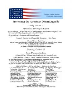 Preserving the American Dream Agenda - American Dream Coalition
