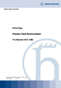 Presision Clock Synchronization: The Standard IEEE ...