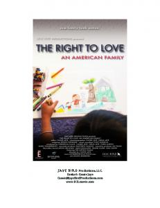 press kit - The Right to Love: An American Family