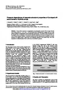 Pressure dependence of magneto-structural properties of Co-doped