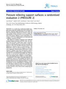 Pressure relieving support surfaces - Semantic Scholar