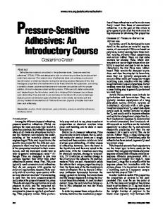 Pressure-Sensitive Adhesives: An Introductory Course