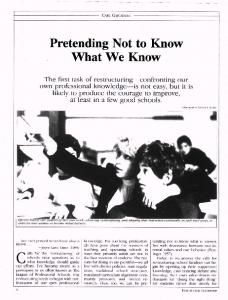 Pretending Not to Know What We Know - ASCD