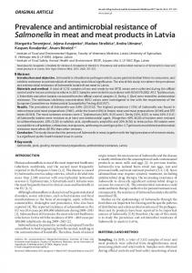 Prevalence and antimicrobial resistance of