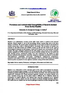 Prevalence and Antimicrobial Susceptibility of Bacteria ... - iMedpub