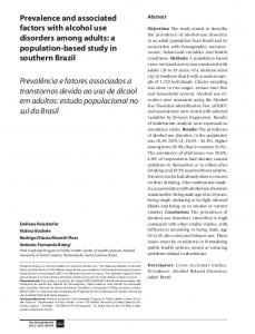Prevalence and associated factors with alcohol ... - Semantic Scholar