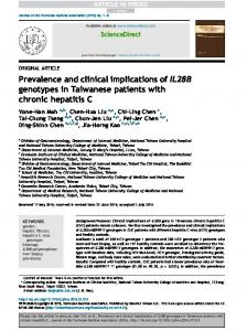 Prevalence and clinical implications of IL28B ...