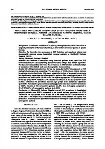 prevalence and clinical presentation of hiv infection among newly ...