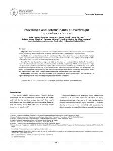 Prevalence and determinants of overweight in