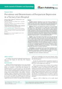 Prevalence and Determinants of Postpartum