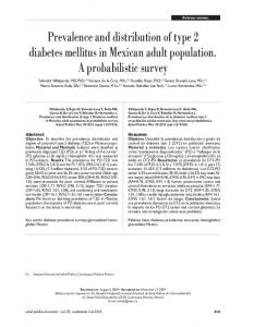 Prevalence and distribution of type 2 diabetes mellitus in Mexican ...