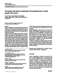 Prevalence and factors associated with polypharmacy ...