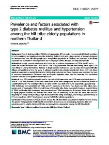 Prevalence and factors associated with type 2 diabetes mellitus and