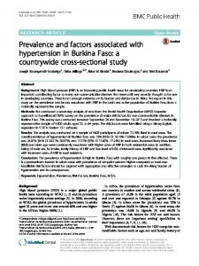 Prevalence and factors associated with