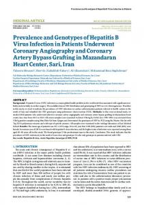 Prevalence and Genotypes of Hepatitis B Virus Infection in Patients ...