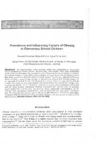 Prevalence and Influencing Factors of Obesity in